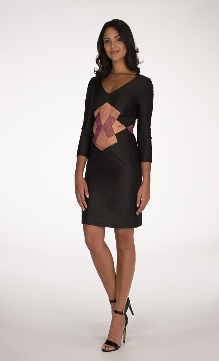 Black 3/4 sleeve PERSIA Dress