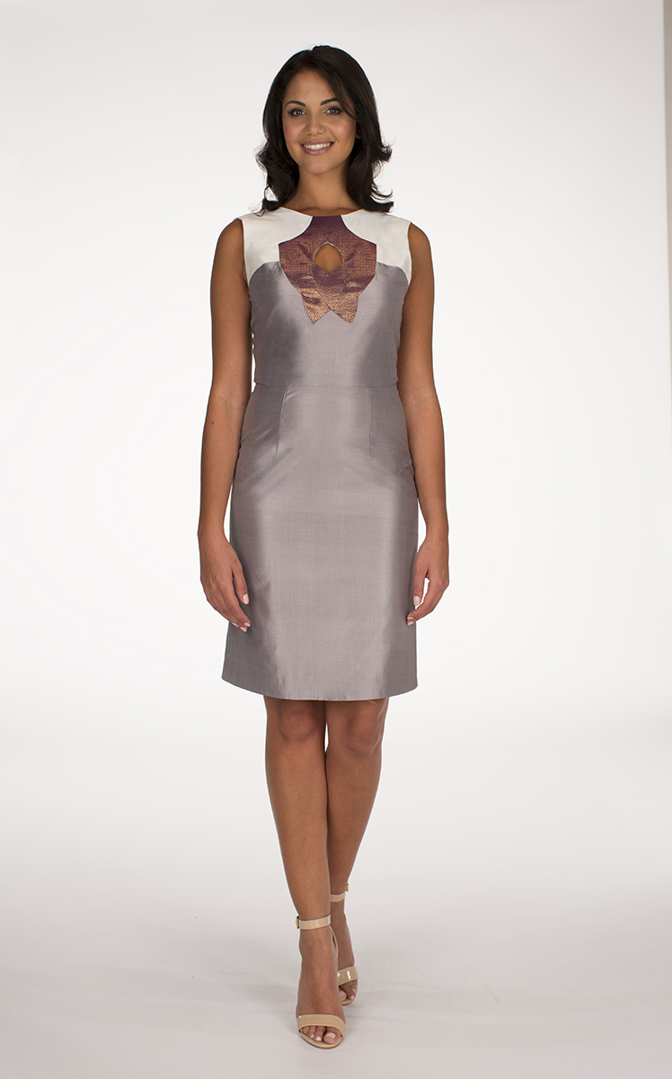 Silver and Ivory Yaas dress
