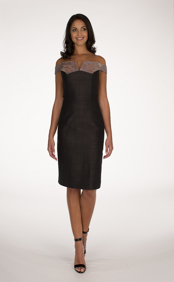 Silver and Black Delbar dress