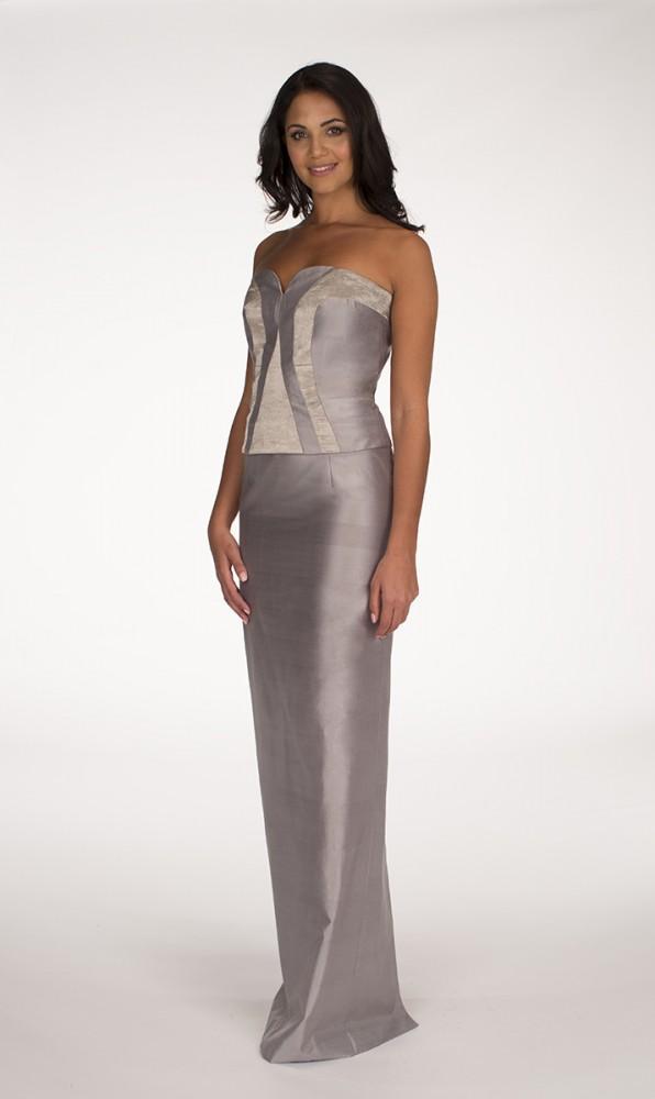 Silver Zeba top Silver Noor skirt