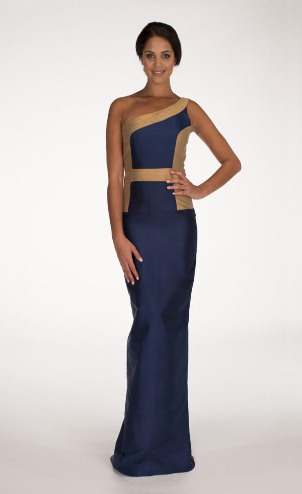 Navy Hani Maxi Dress