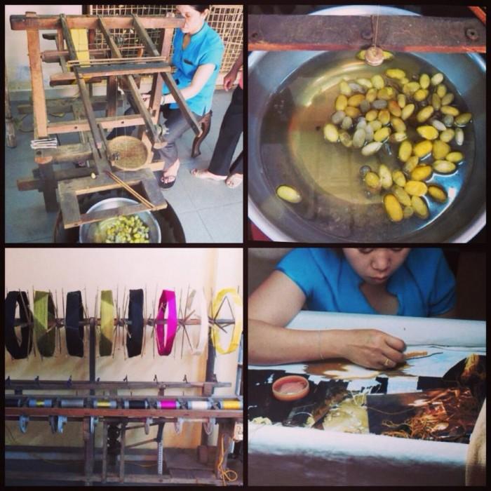 Hand woven fabric, Vietnam