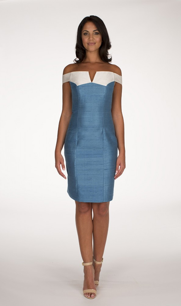Ivory and Turquoise Delbar dress