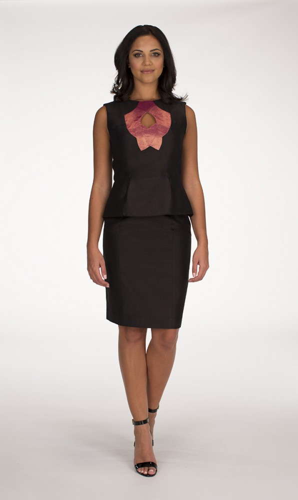 Black Yaas Top Black Mulberry Saba skirt