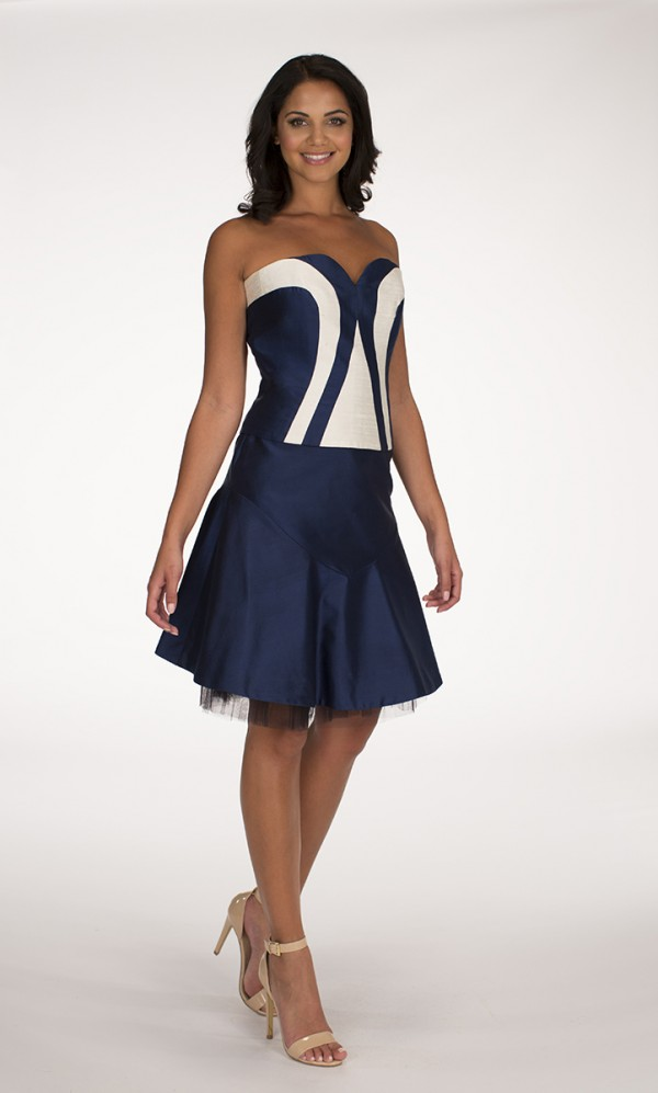Navy Blue Zeba top Navy Blue May skirt