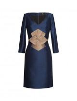 Navy 3/4 sleeve Farah Dress