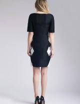 Short Sleeve Black Maah Dress