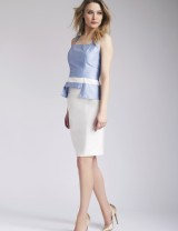 Light Blue Elina Top & Saba skirt