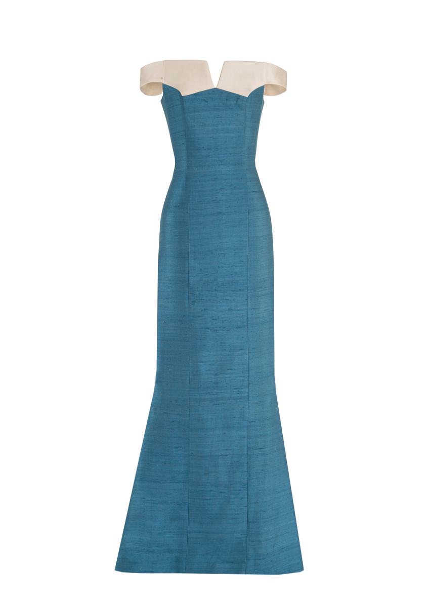 Delbar Maxi Dress Turquoise