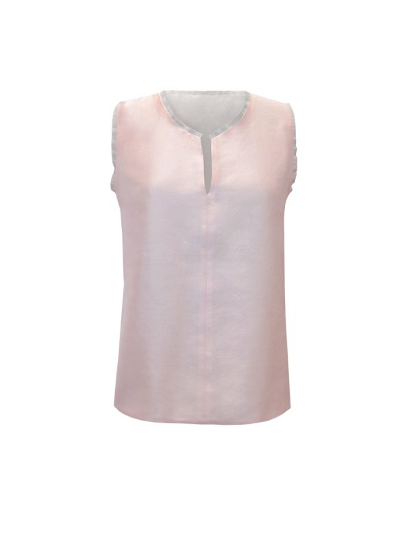 Silver & Blush Pink Nightingale Top